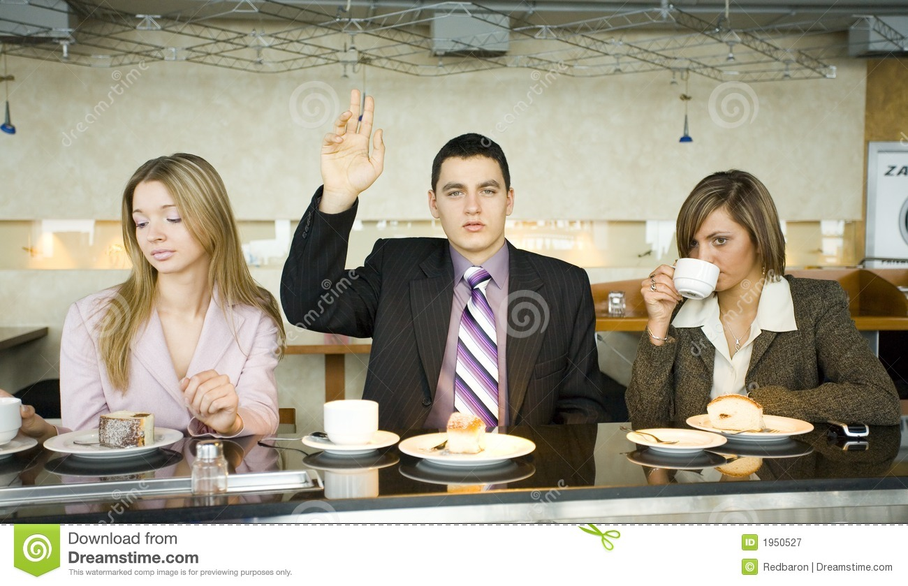 Group of Business People at the Bar