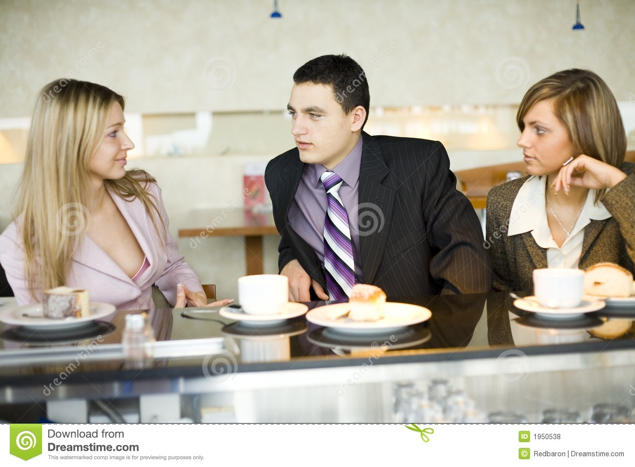 Group Of Business People At Coffee Break Royalty Free ...