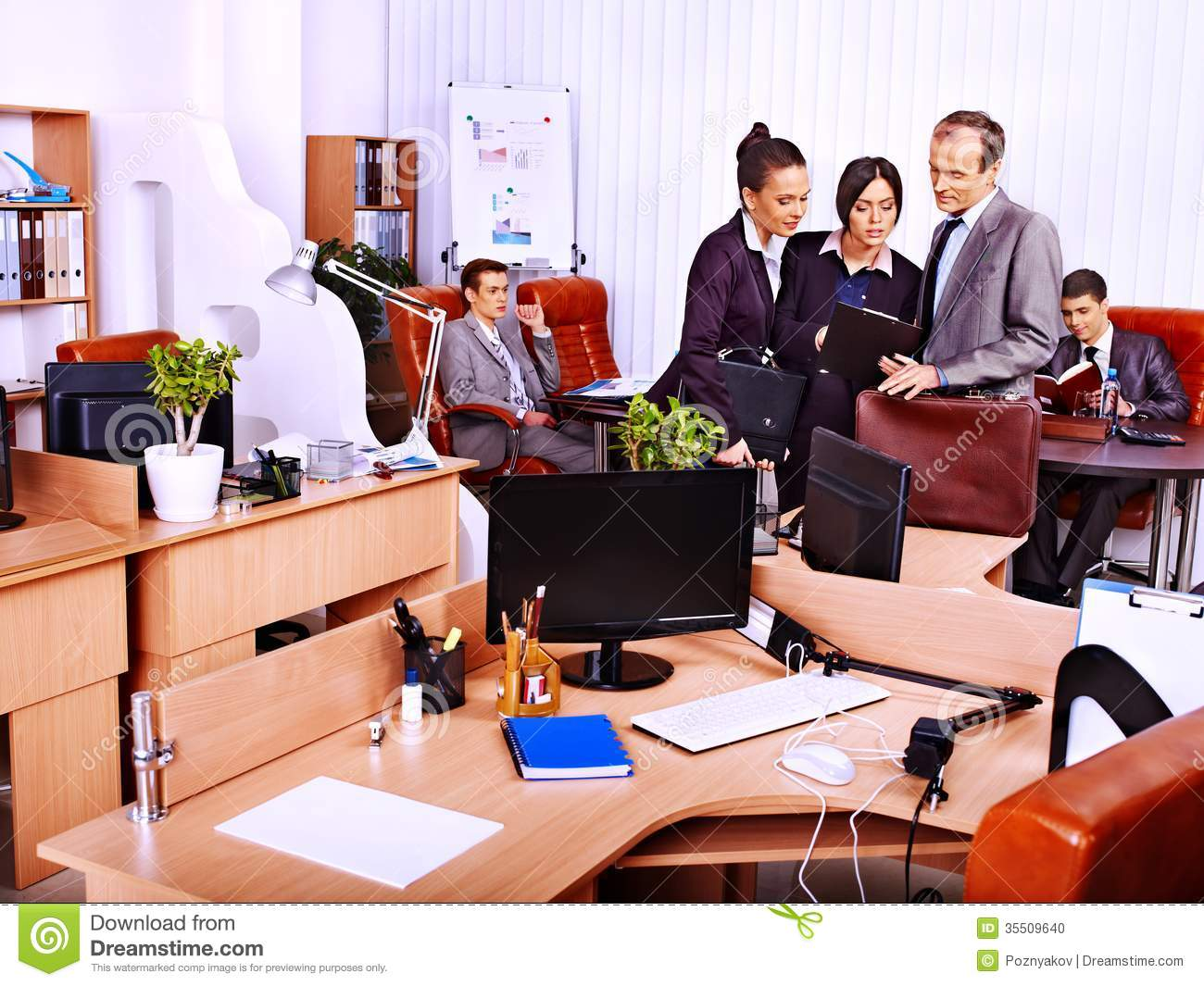 Group Business People In Office Stock Photo Image 35509640