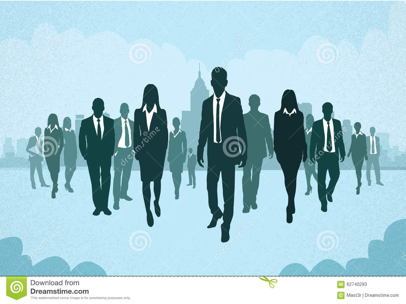 Group Of Business People Silhouettes Walking Stock Vector ...