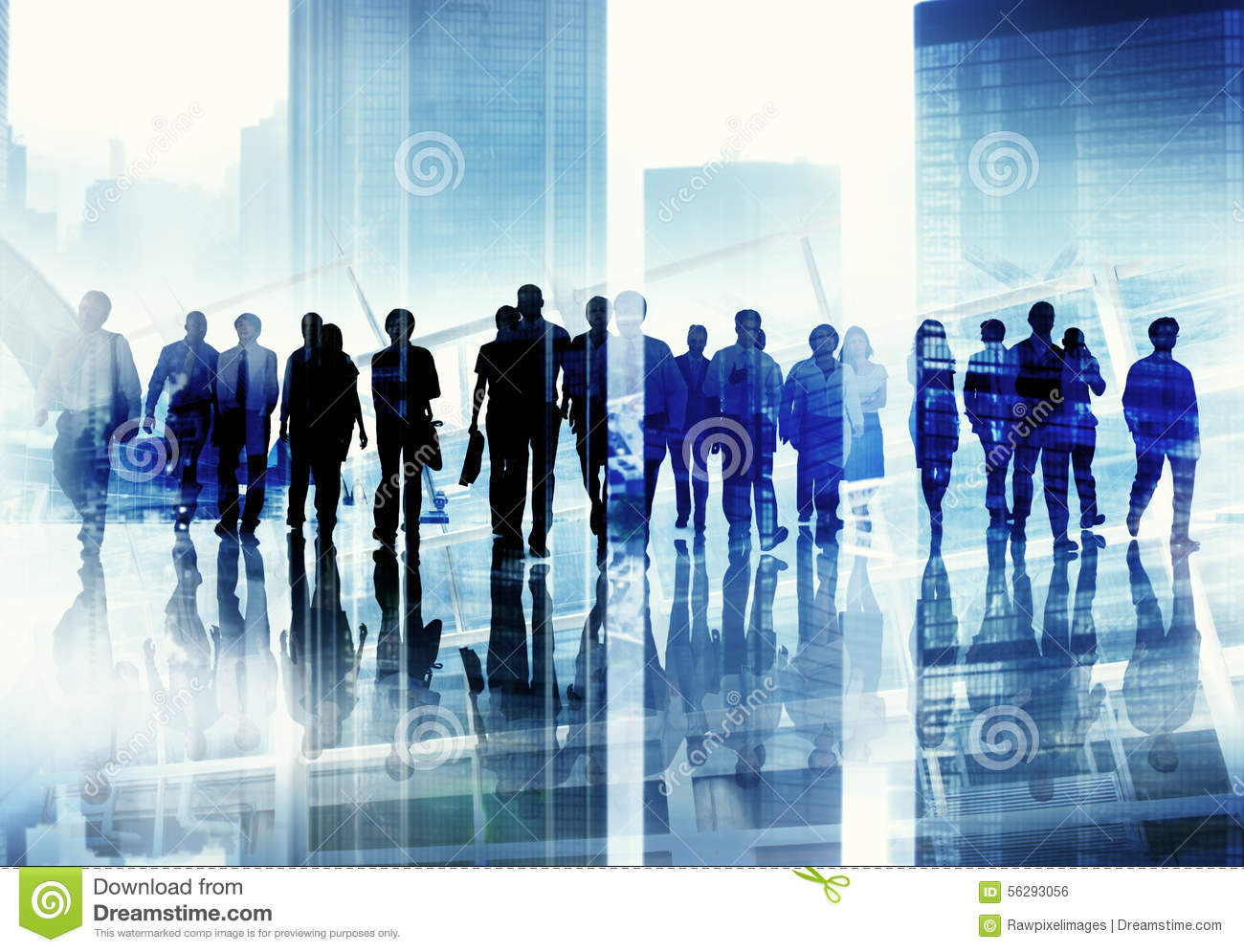Royalty Free Stock Image: Group of Business People Walking ...