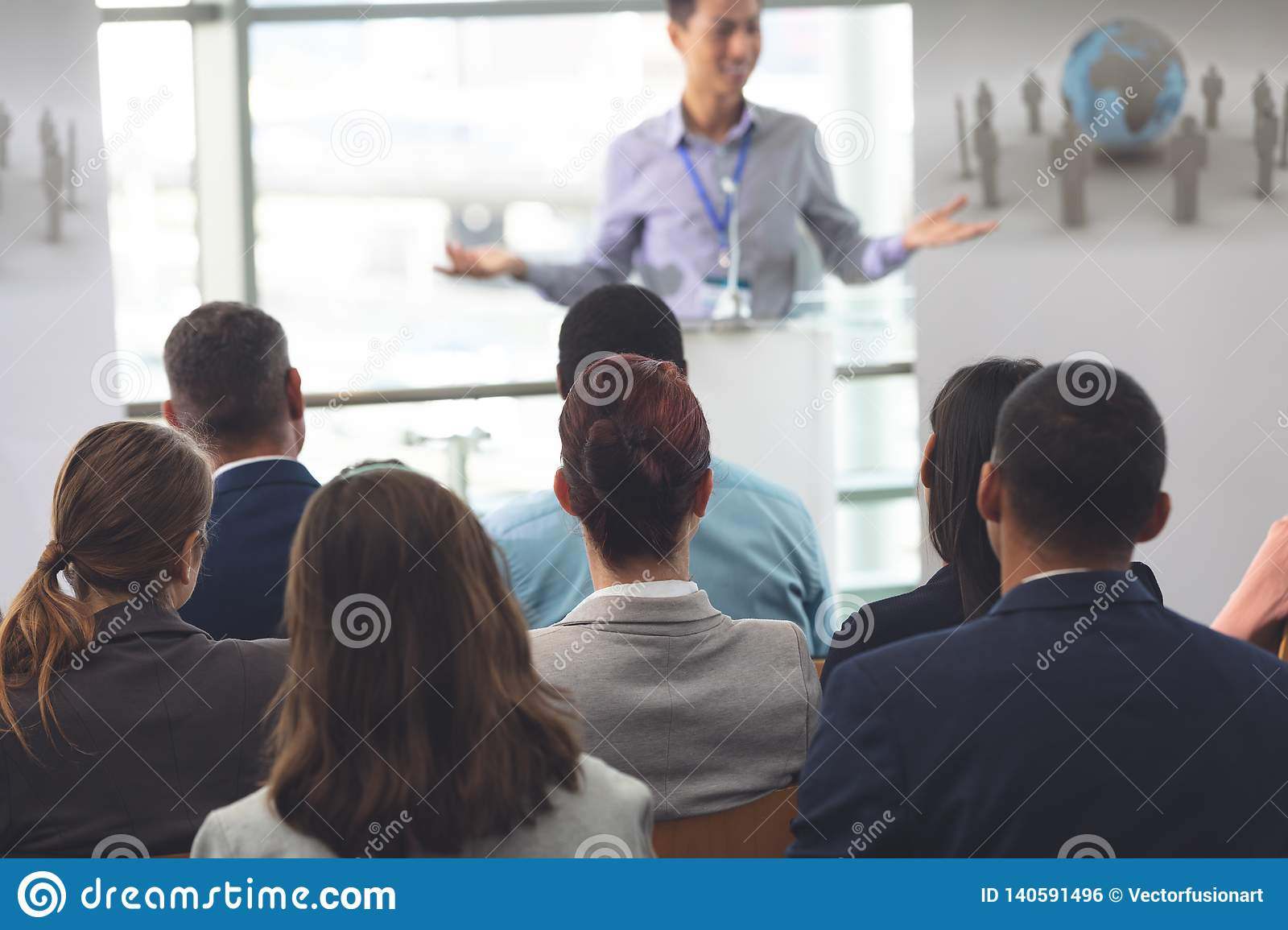 Group of business professionals attending a seminar