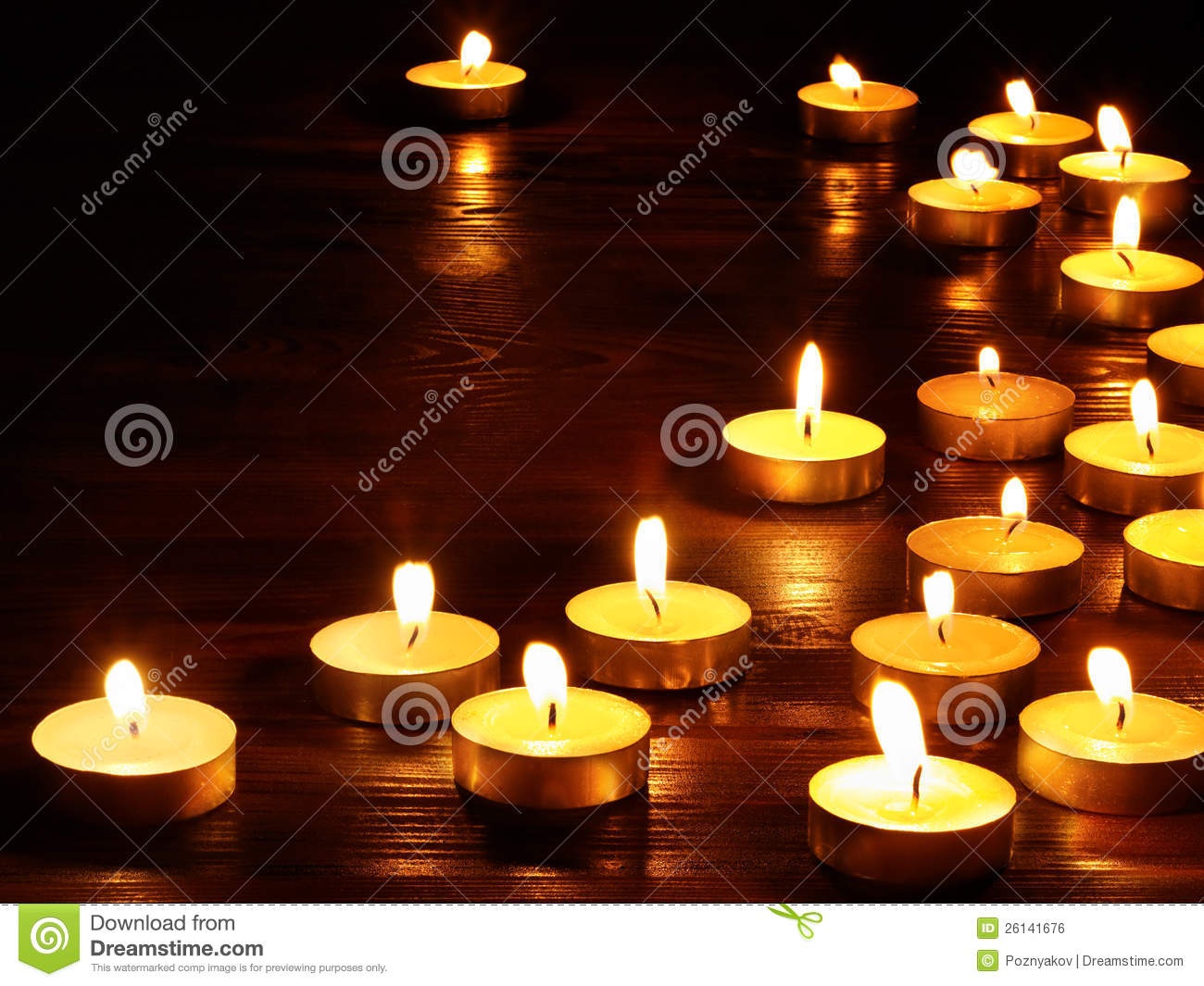 group of candles on black background royalty free stock. Black Bedroom Furniture Sets. Home Design Ideas