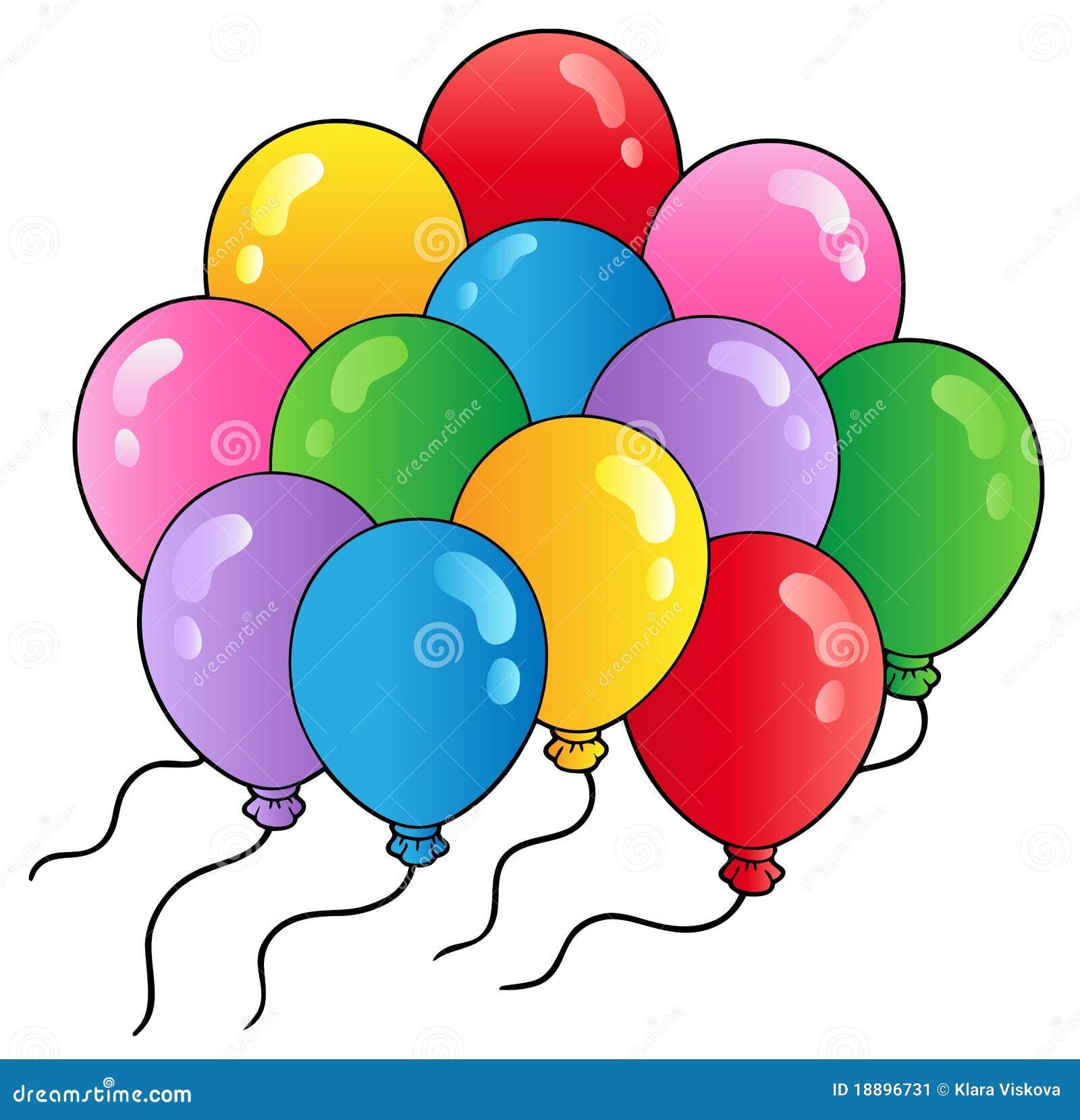 Group Of Cartoon Balloons 2 Stock Image Image 18896731