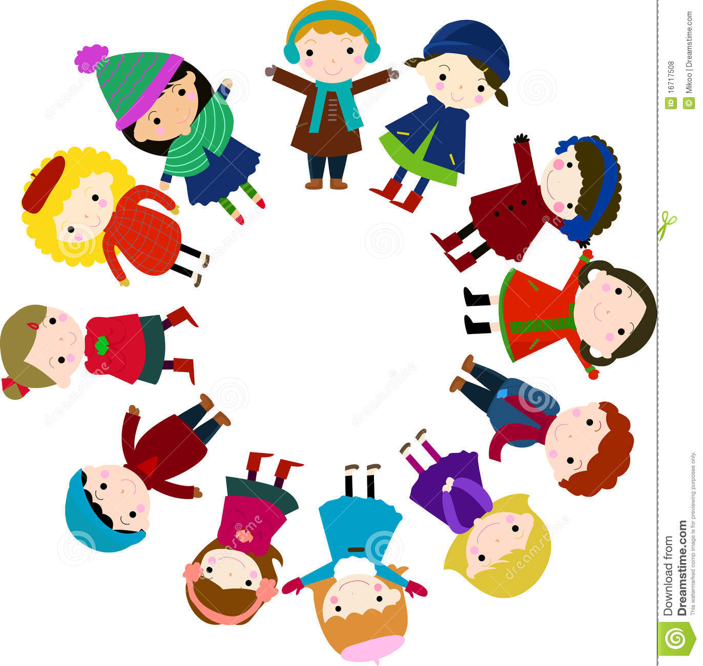 Group Of Children For Christmas Tree Stock Vector - Illustration of ...