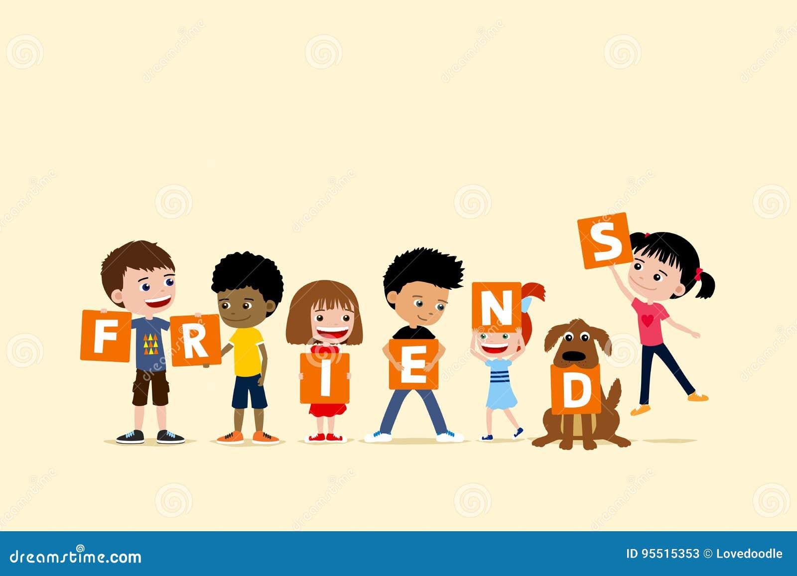 Cartoon Group Friends Boys Girls Stock Illustrations 1 807 Cartoon Group Friends Boys Girls Stock Illustrations Vectors Clipart Dreamstime