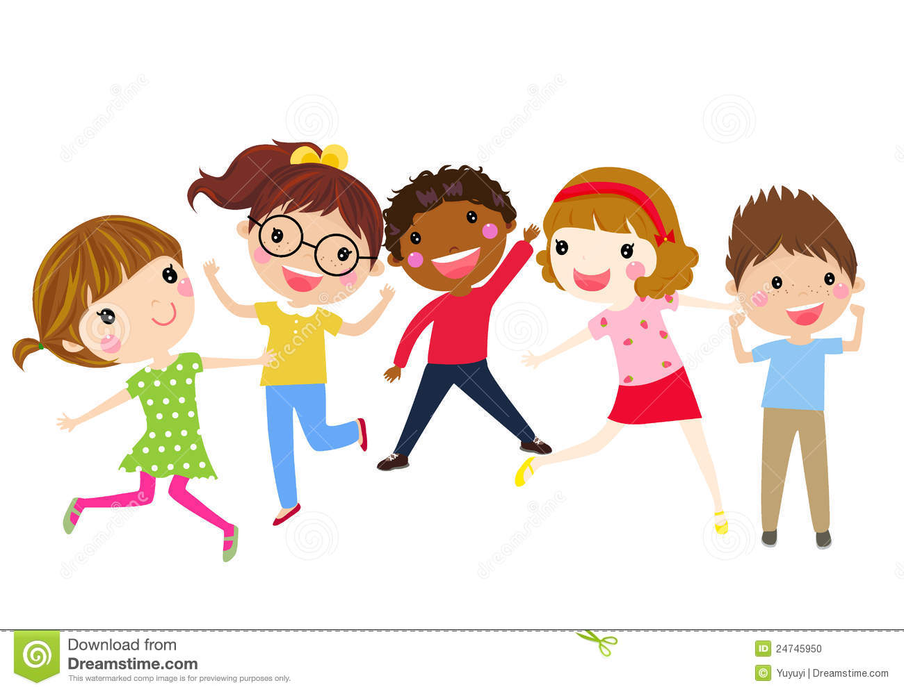 Group Of Children Having Fun Stock Photo - Image: 24745950