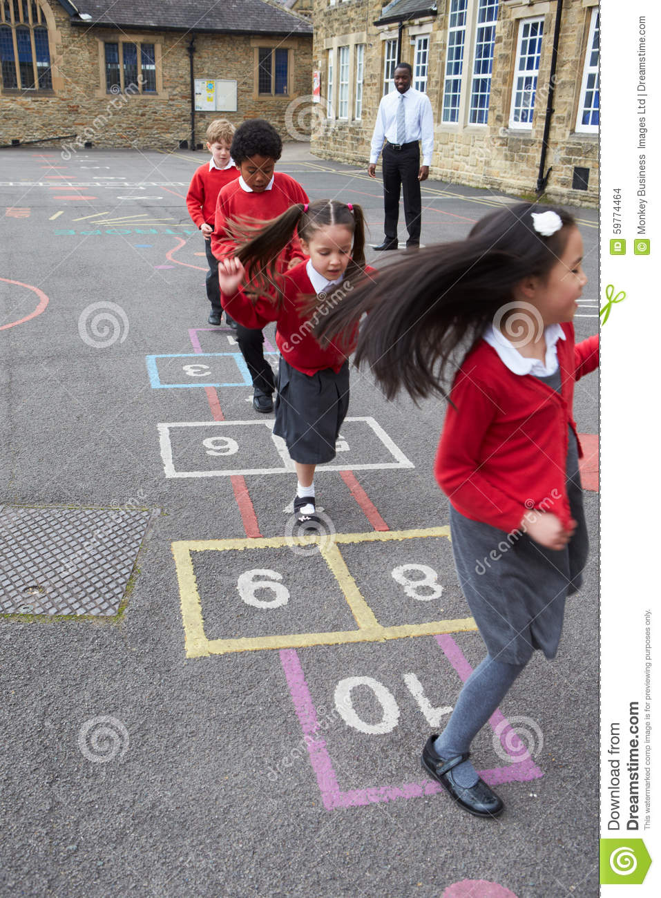 Group Of Children Play...