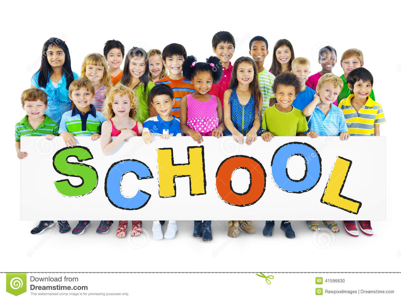 Group of Children with School Concept