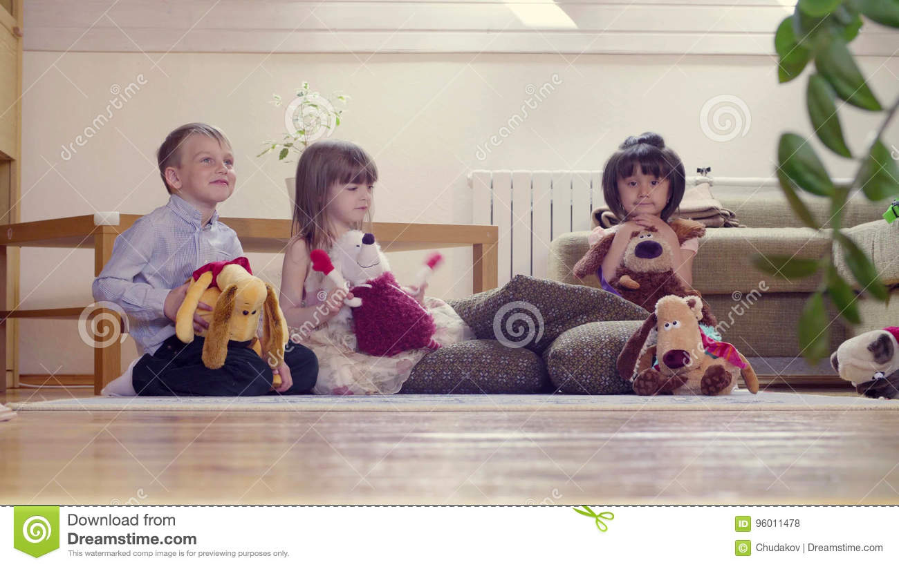 Opinion Girls group with toys consider
