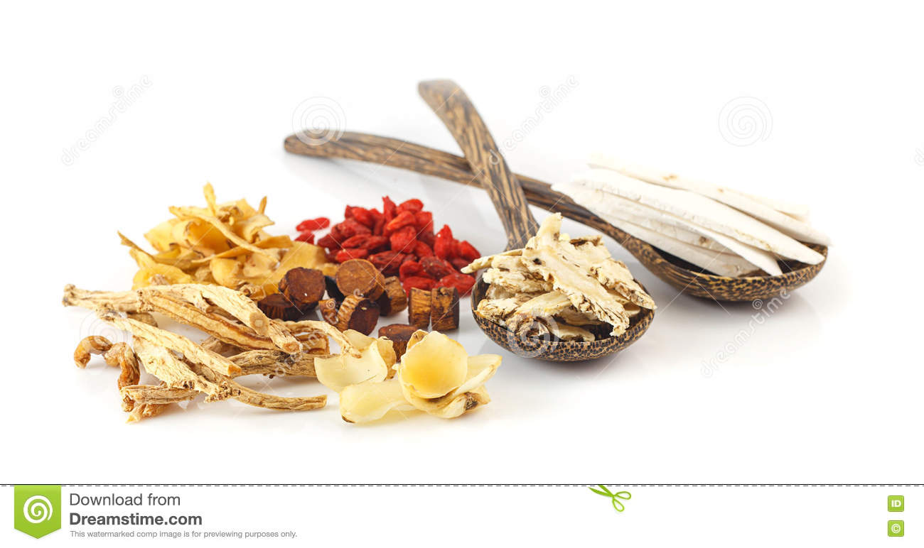 Group Of Chinese Medicine Herbs Stock Image Image Of Ingredient