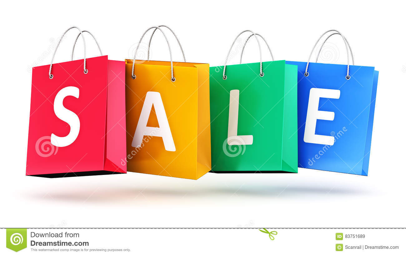Shopping Bags With The Word `shop` Stock Illustration - Image ...