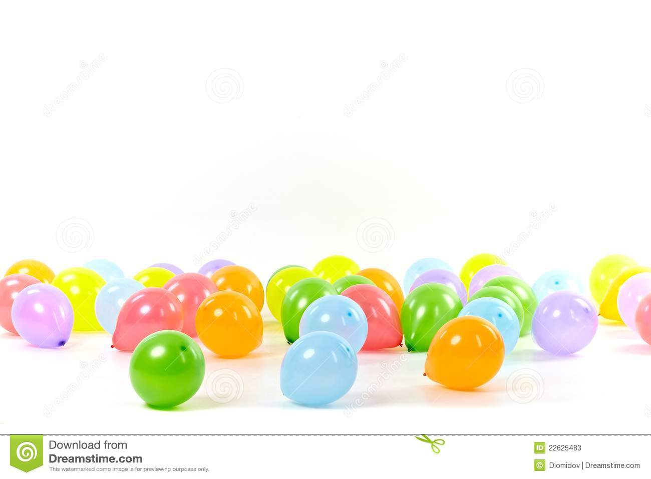 Group Of Colored Balloons On White Background Stock Photos ...
