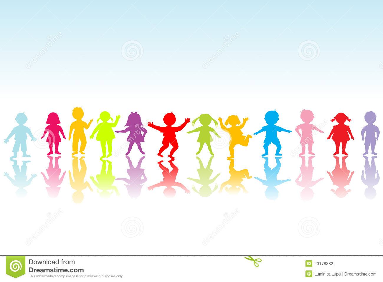 Group Of Colored Children Playing Stock Photography ...