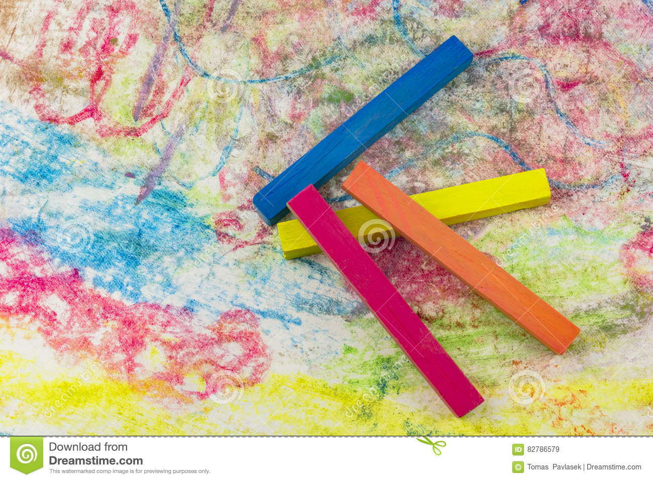 group colorful chalk stock image image of background 82786579