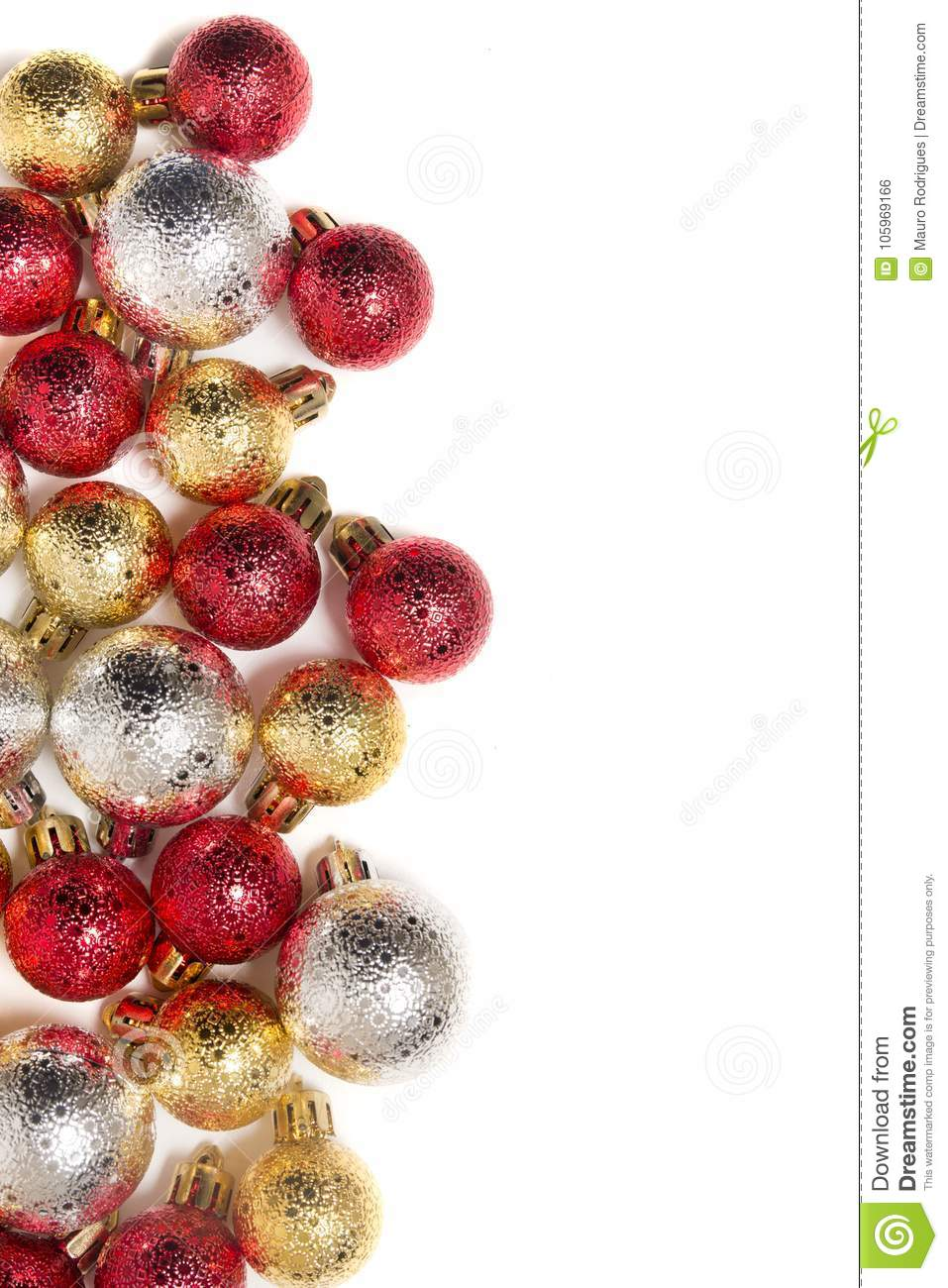 Group Of Colorful Christmas Balls Stock Photo - Image of mixed ...