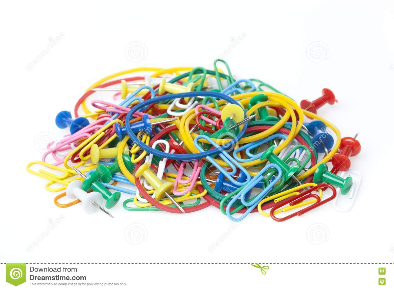 A Group Of Colorful Office Supplies Stock Image Image