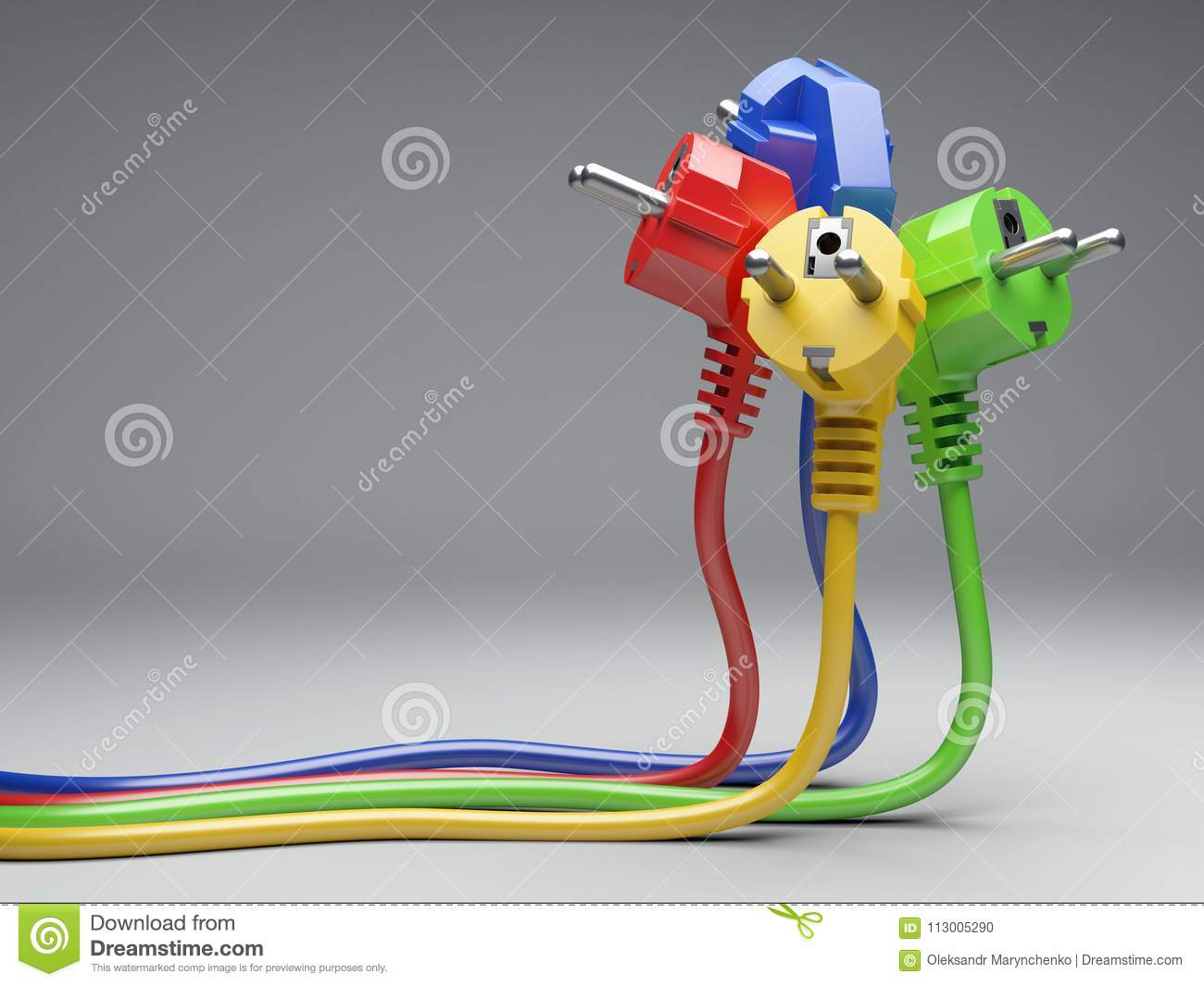 Enjoyable Group Colour Electric Plug With Long Wires Stock Photo Image Of Wiring Digital Resources Sulfshebarightsorg
