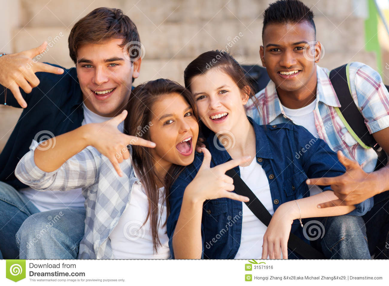 Group Cool Teenagers Royalty Free Stock Image - Image: 31571916