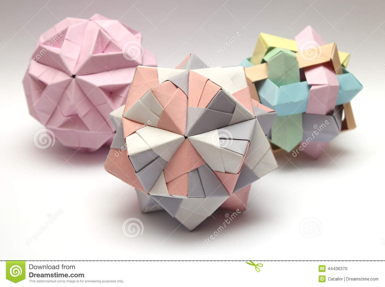 Group Of 3d Origami Balls Stock Photo - Image: 44436370 - photo#40