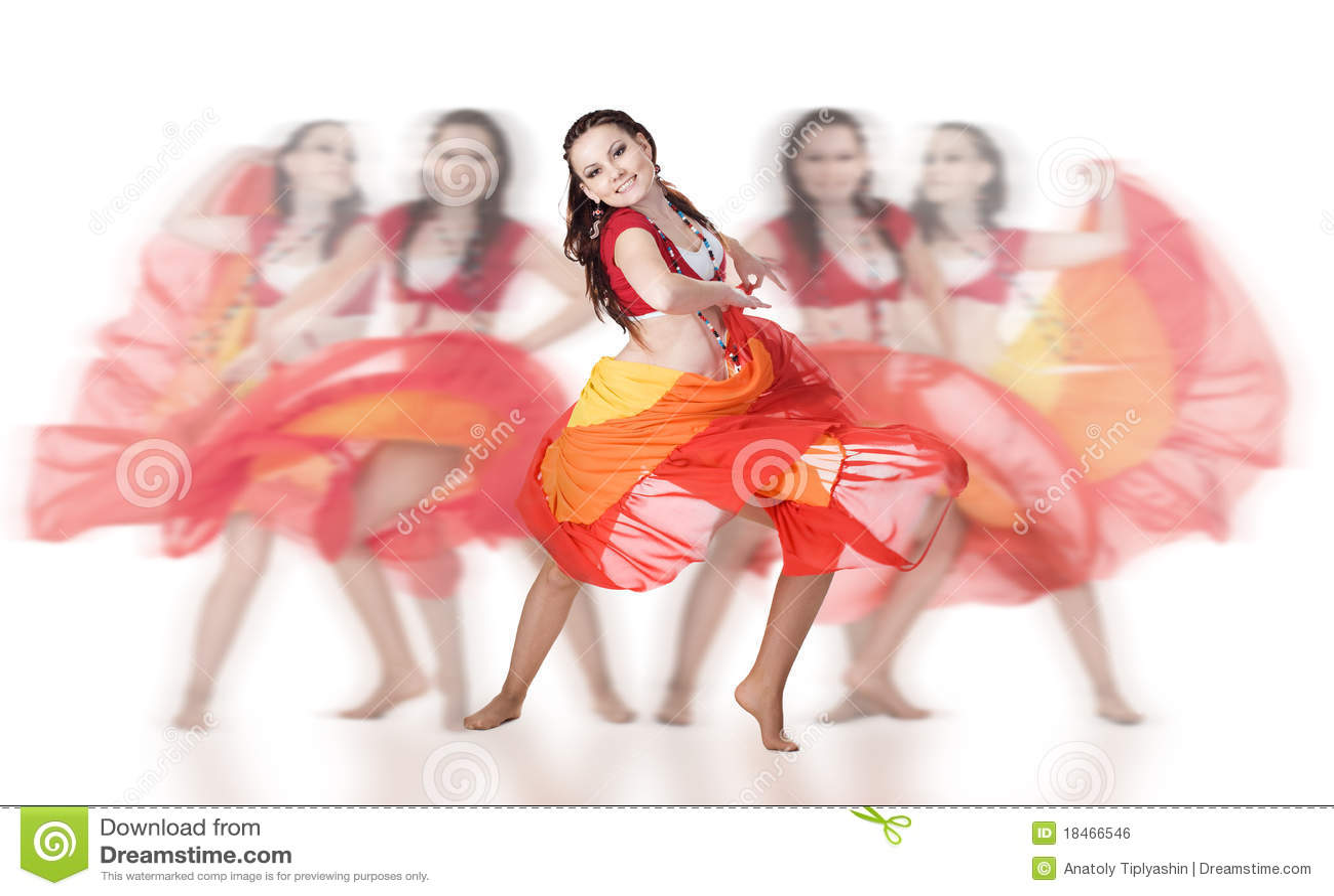 Group dancer