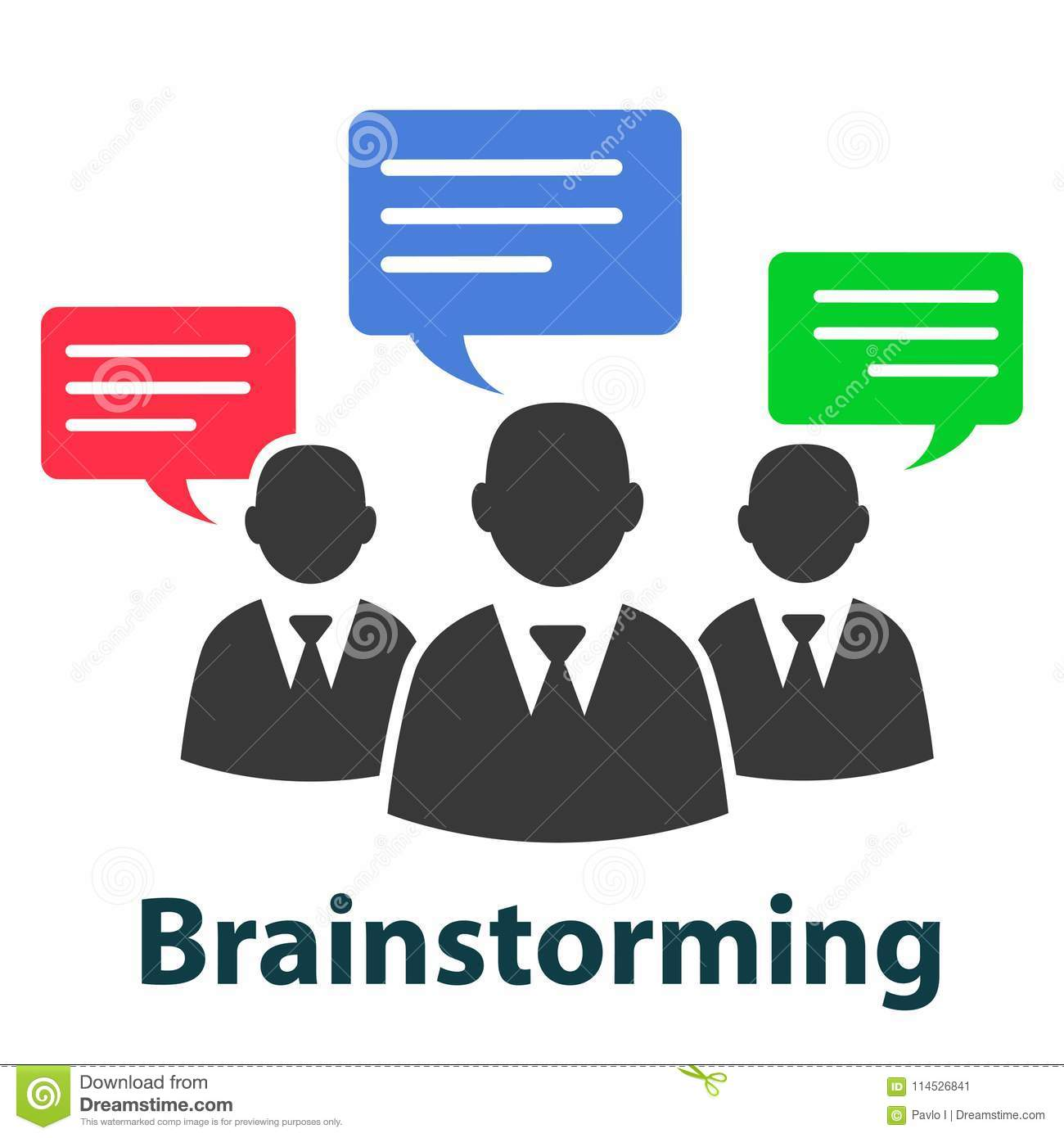 Group discuss, brainstorming concept - vector