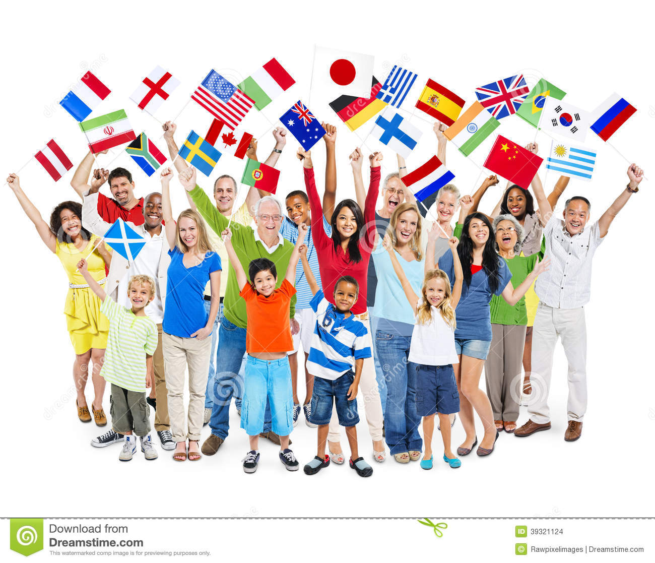 Group Of Diverse Mixed Age People Celebrating Stock Photo ...