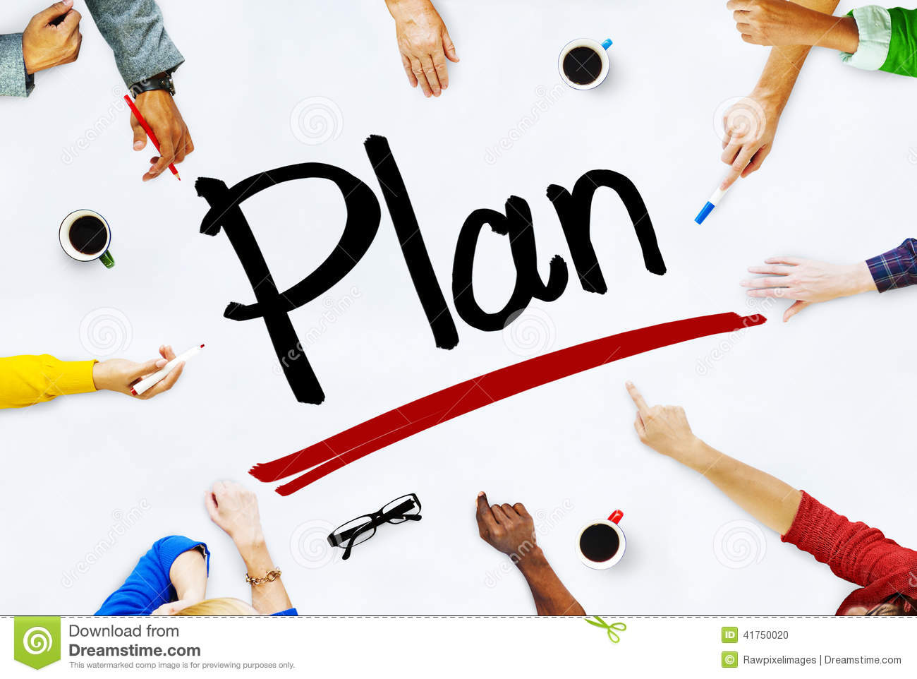 group of diverse multiethnic people planning stock photo image of
