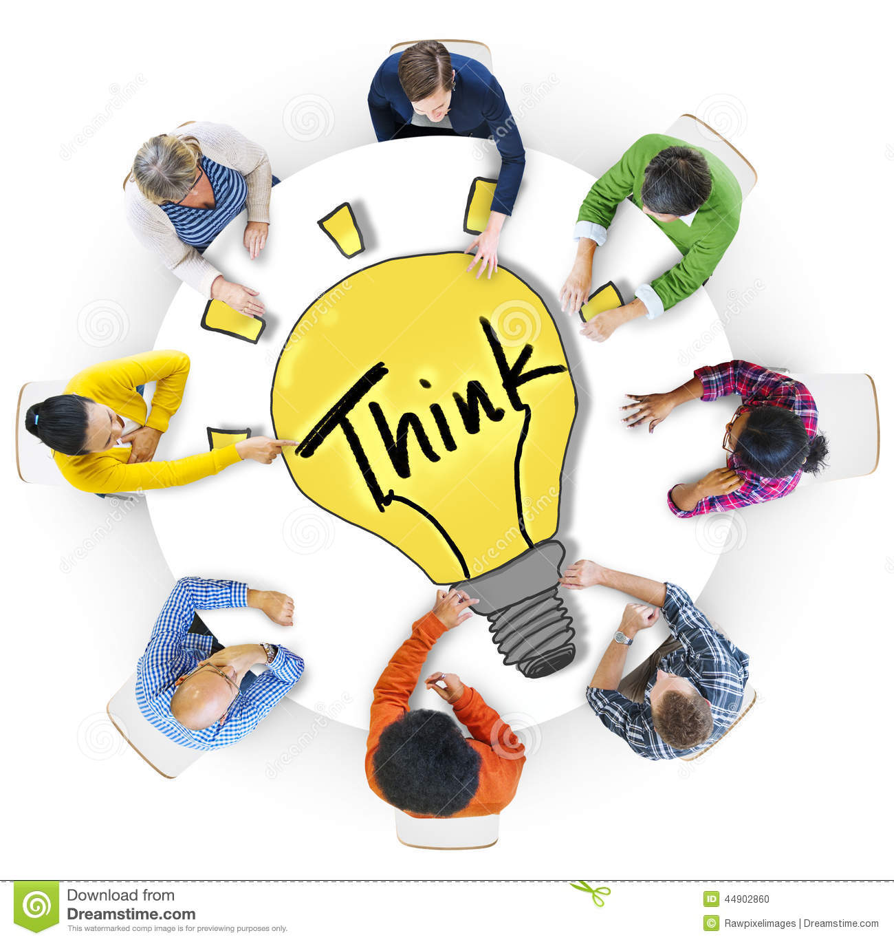 group of diverse people in a circle brainstorming stock no talking in class clipart no talking back clipart