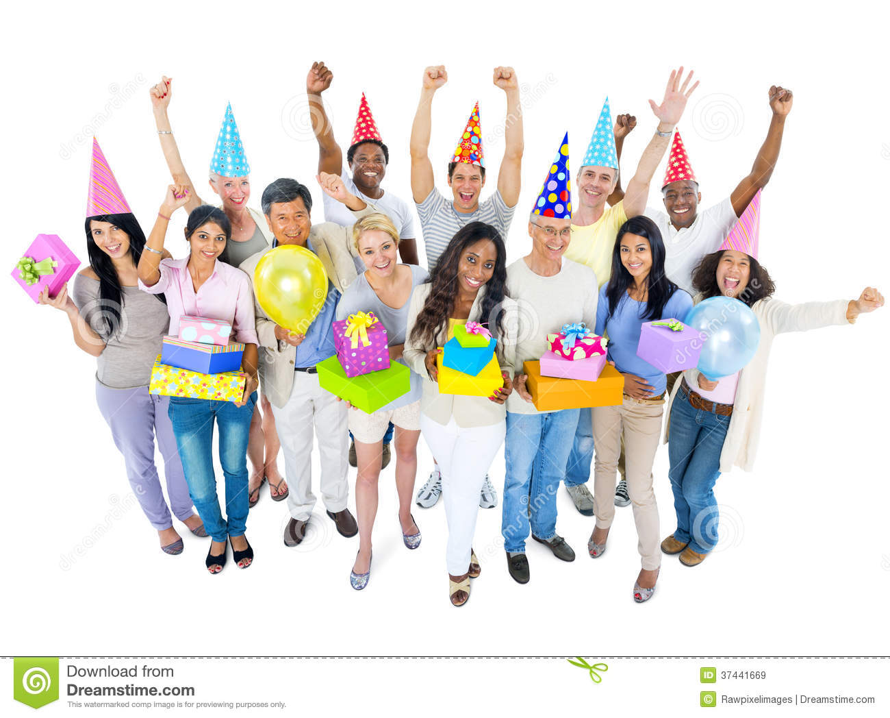 Group of Diverse People Enjoying the Party