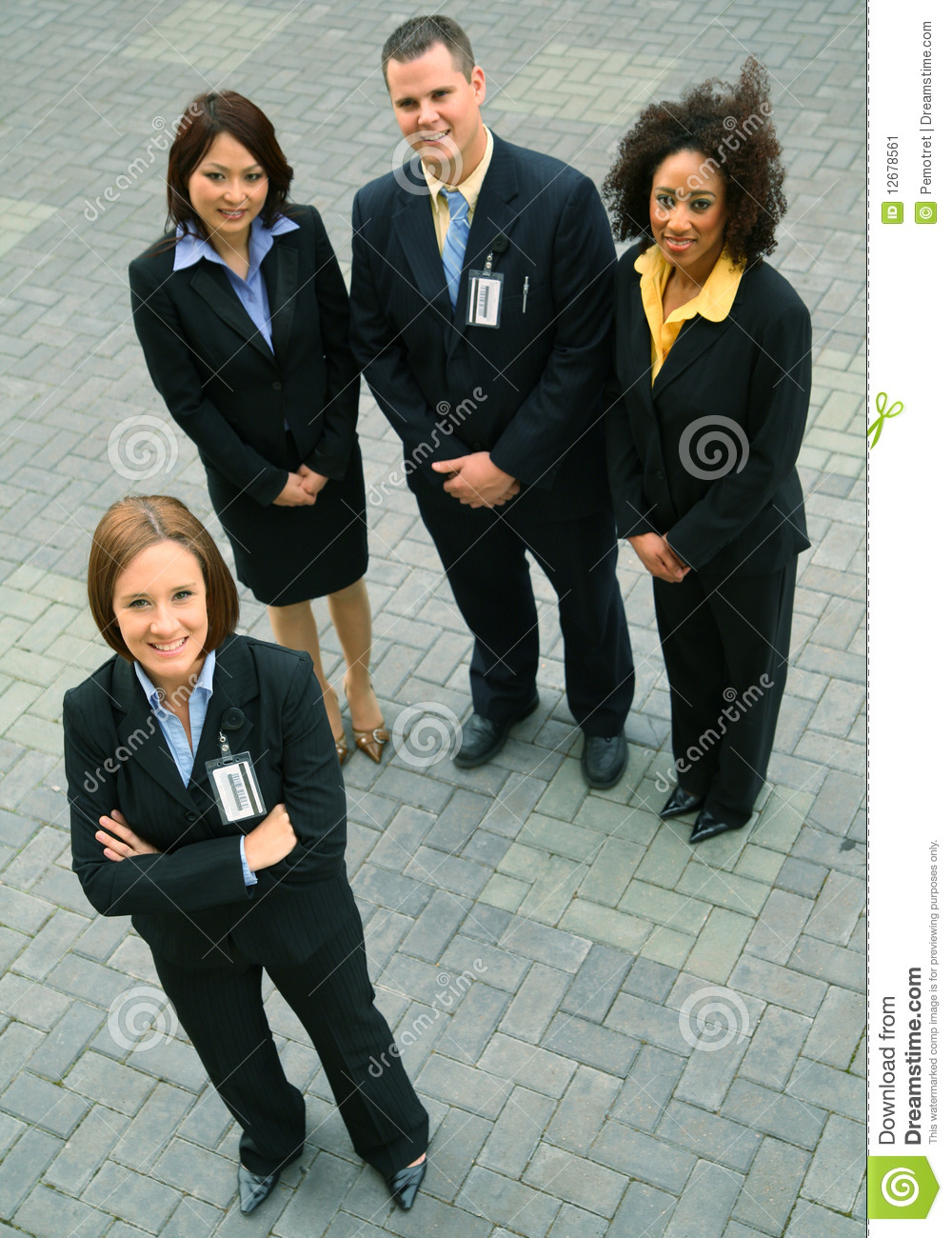 Group Of Diversity Business People