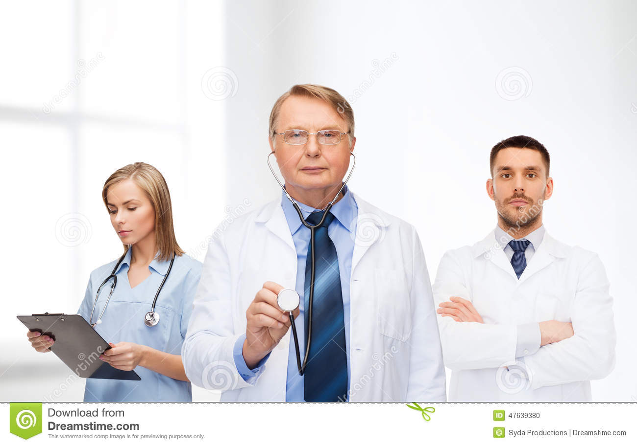 Group Of Doctors In White Coats Stock Photo - Image: 47639380