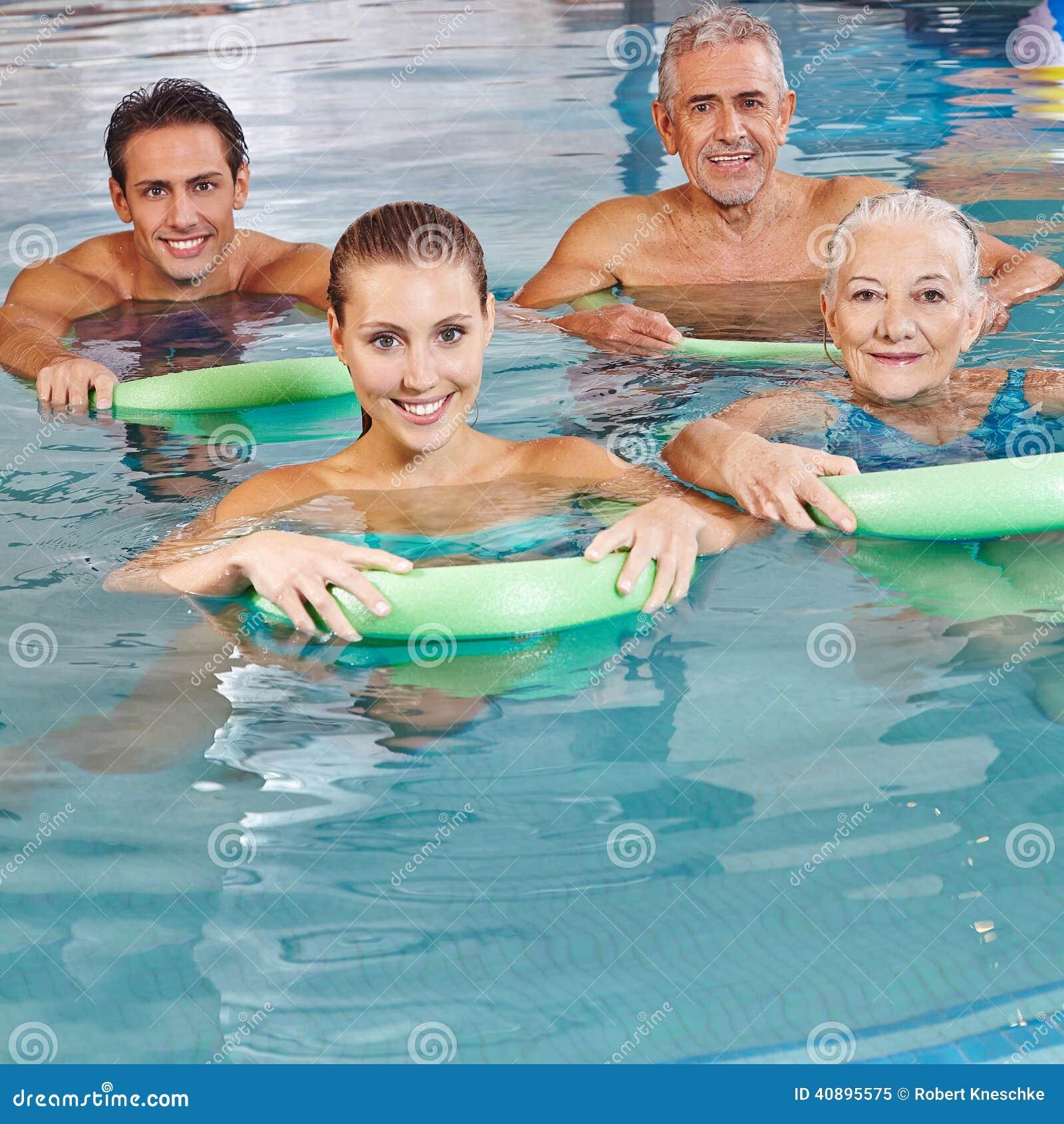 Group Doing Aqua Fitness Stock Photo Image 40895575