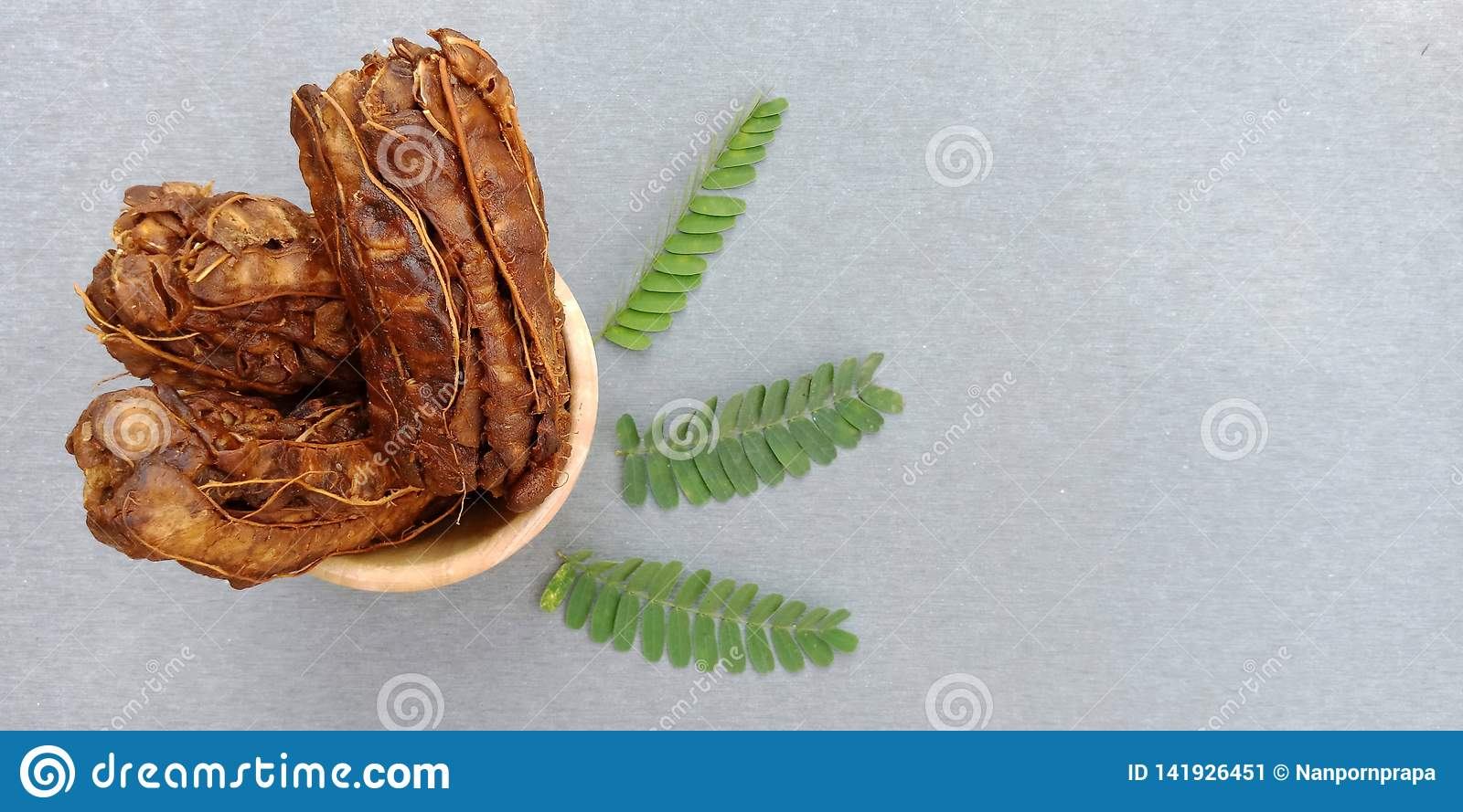 The group of dried tamarind