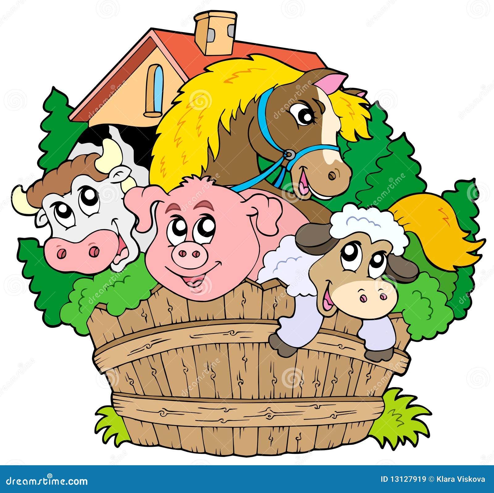 group farm animals stock illustrations 1 314 group farm animals rh dreamstime com farm animal clip art for kids farm animal clipart