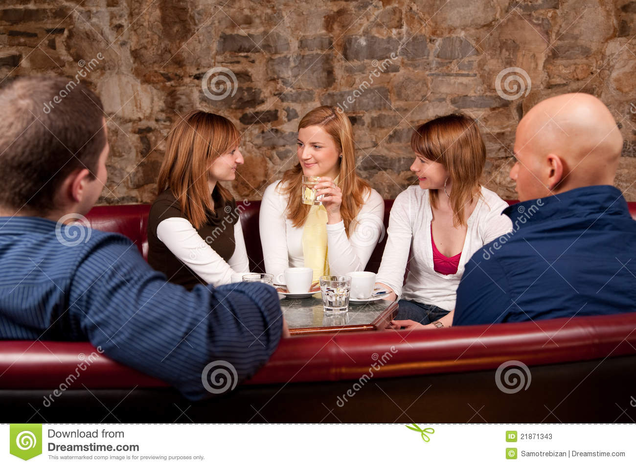 Group Of Five People Having Fun Stock Photos Image 21871343