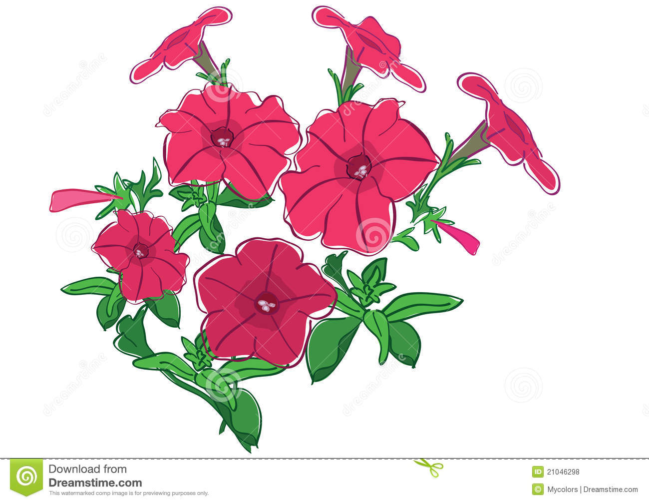 Group Of Flowers - Red... Yellow Hibiscus Clip Art
