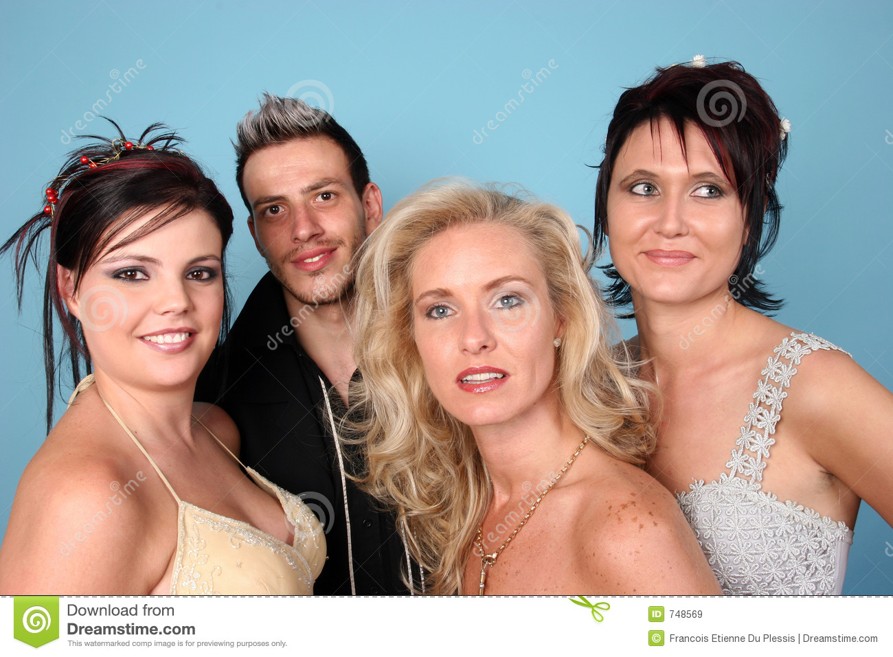 Group Of Four People Royalty Free Stock Images
