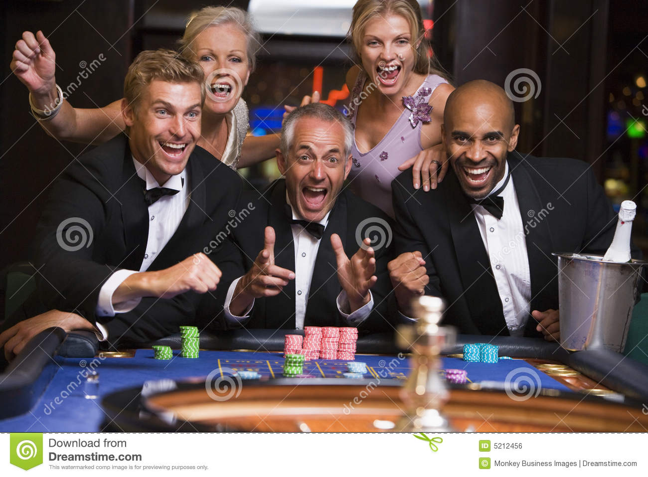 Playing roulette at home with friends