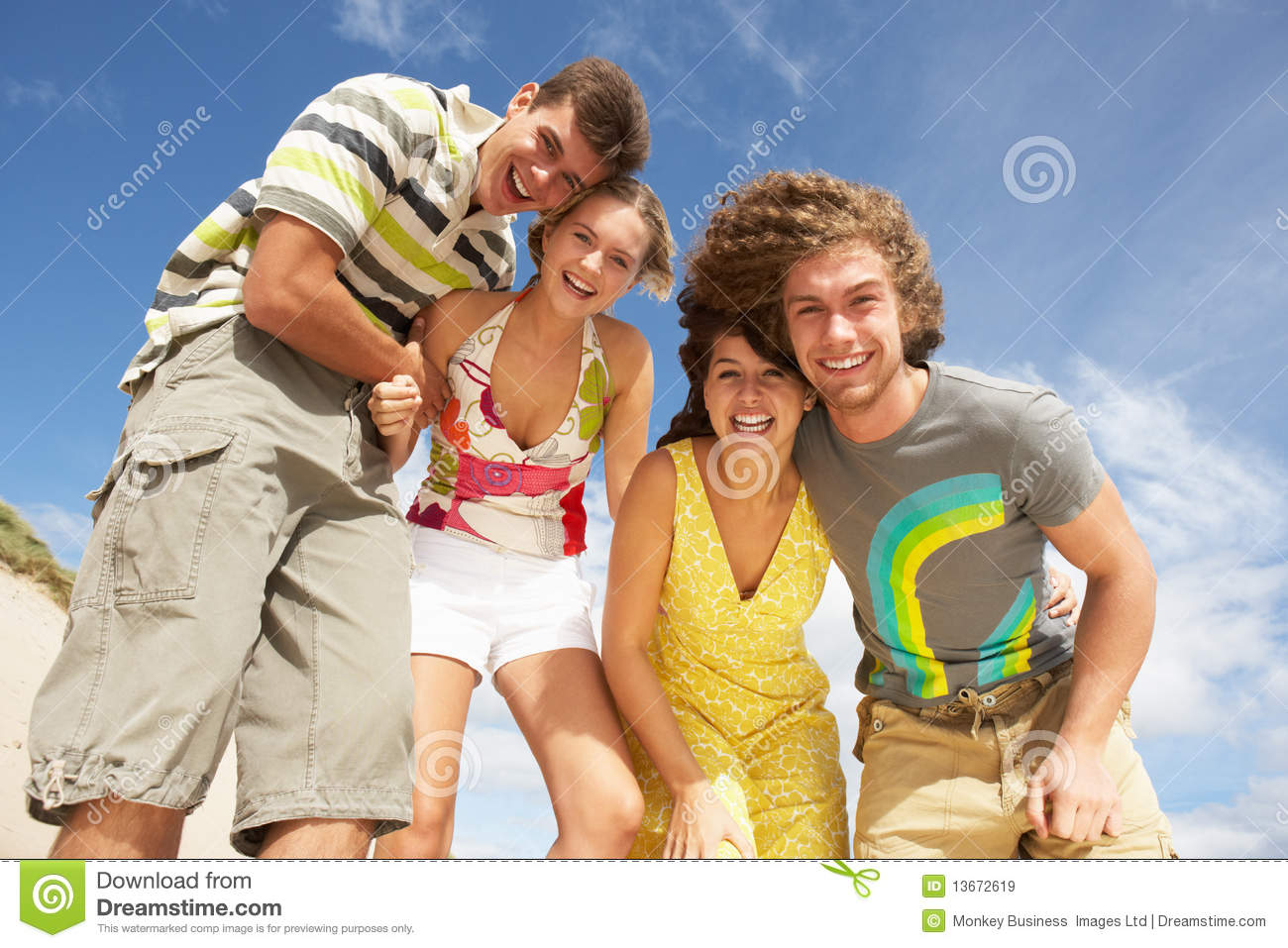 Group Of Friends Having Fun Stock Image - Image: 13672619