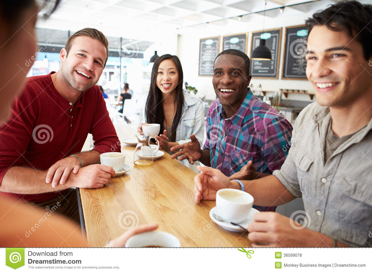Group Of Friends Meeting In Coffee Shop Royalty Free Stock Photos ...