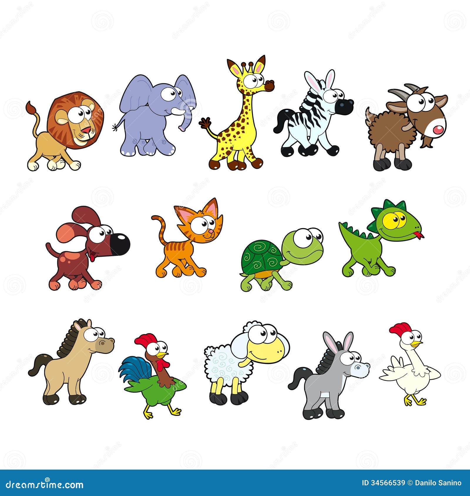 group of funny animals stock vector illustration of. Black Bedroom Furniture Sets. Home Design Ideas