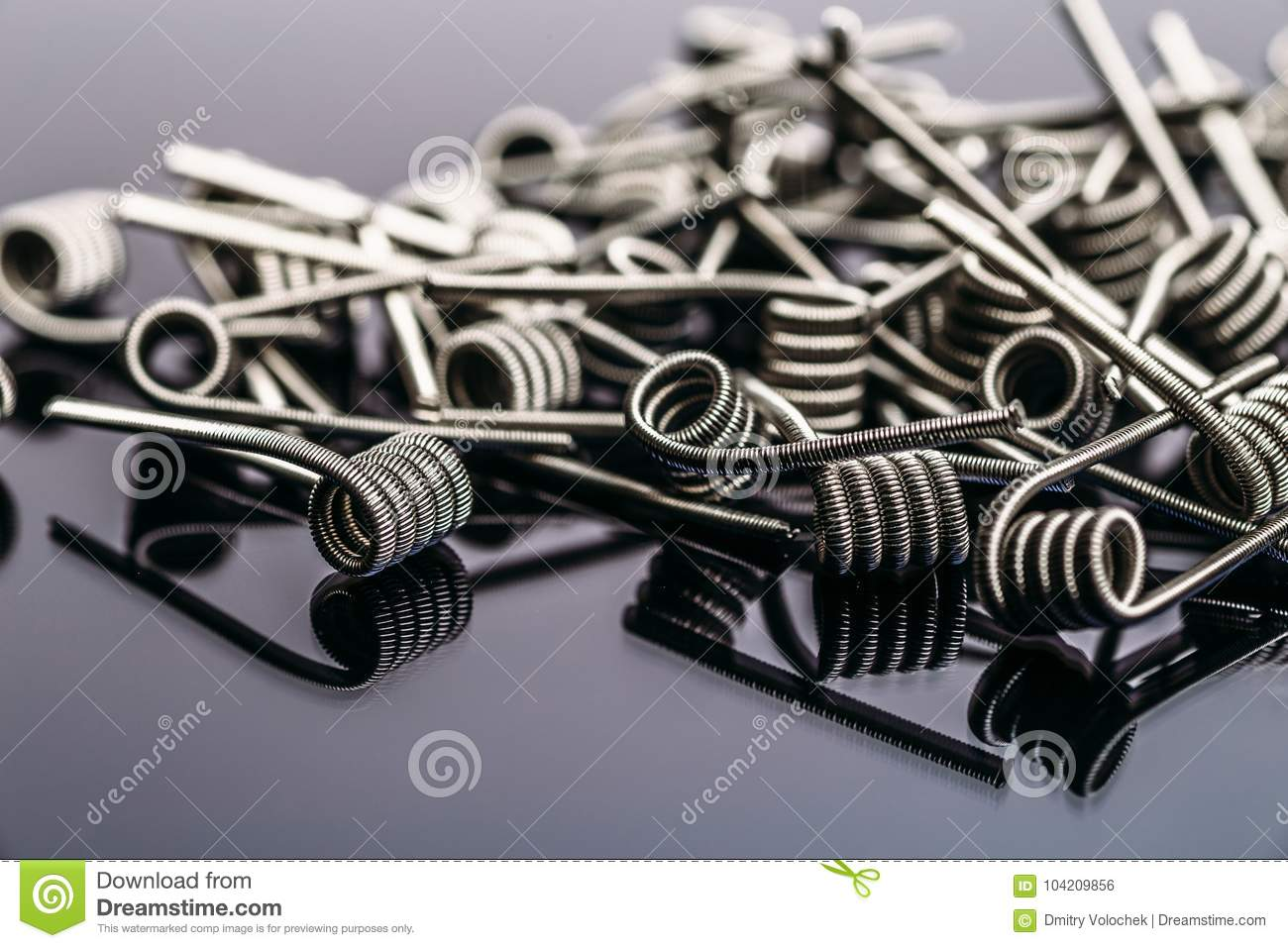 Group of Fussed Clapton Coils for vape or e-cig dripping atomizers or RDA
