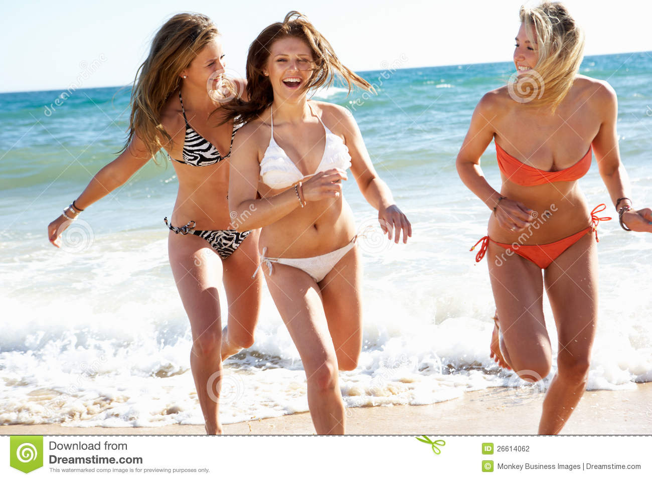 teen girl at beach groups Bikinis