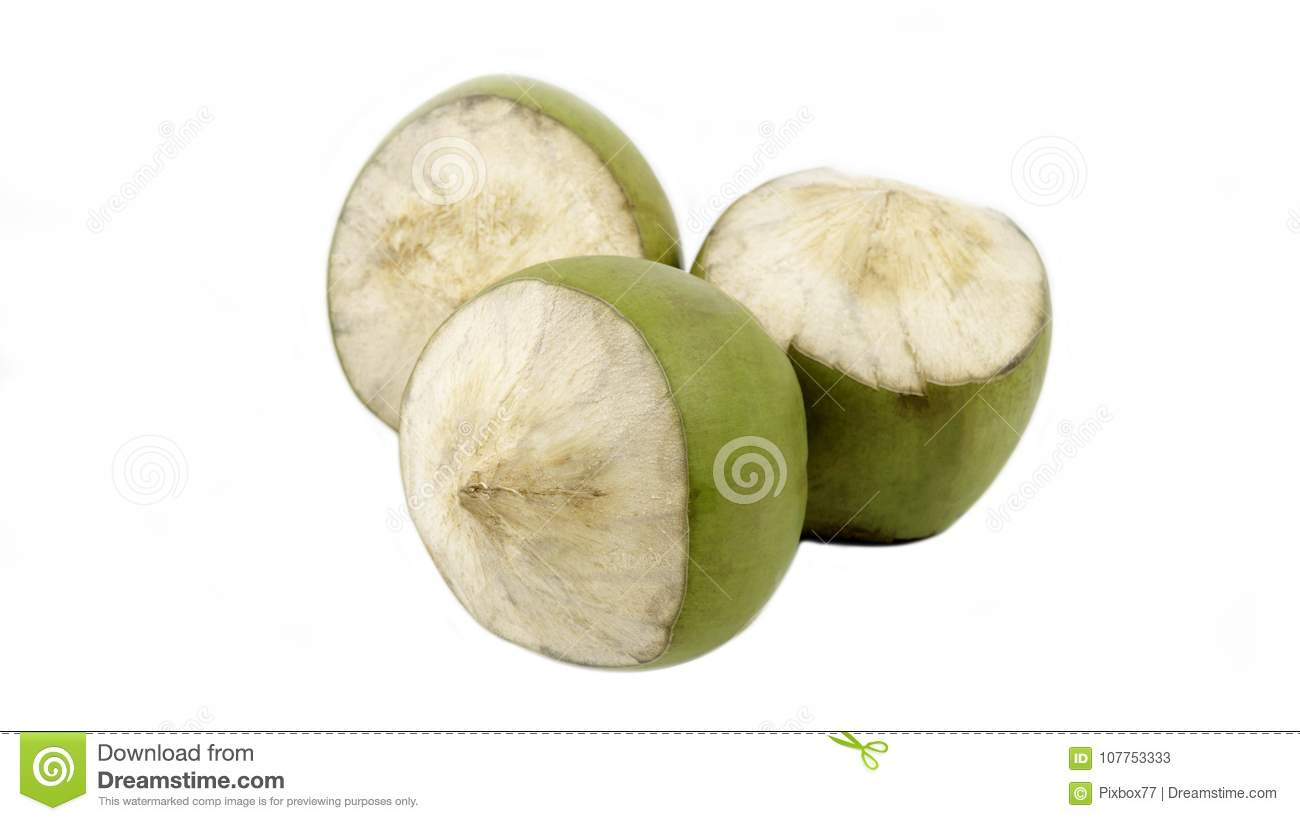 Group of green coconut isolated