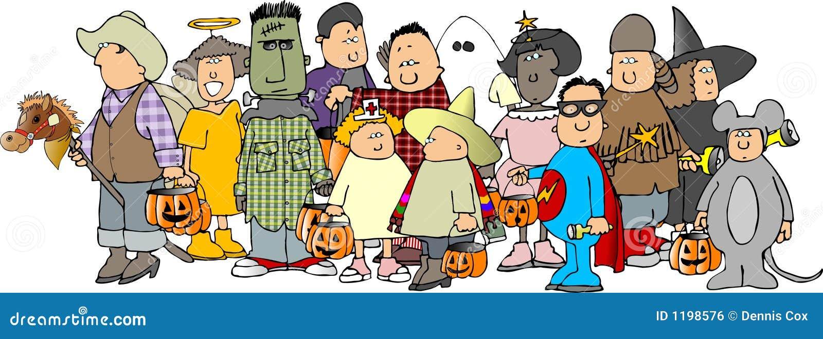 Group of Halloween kids 3