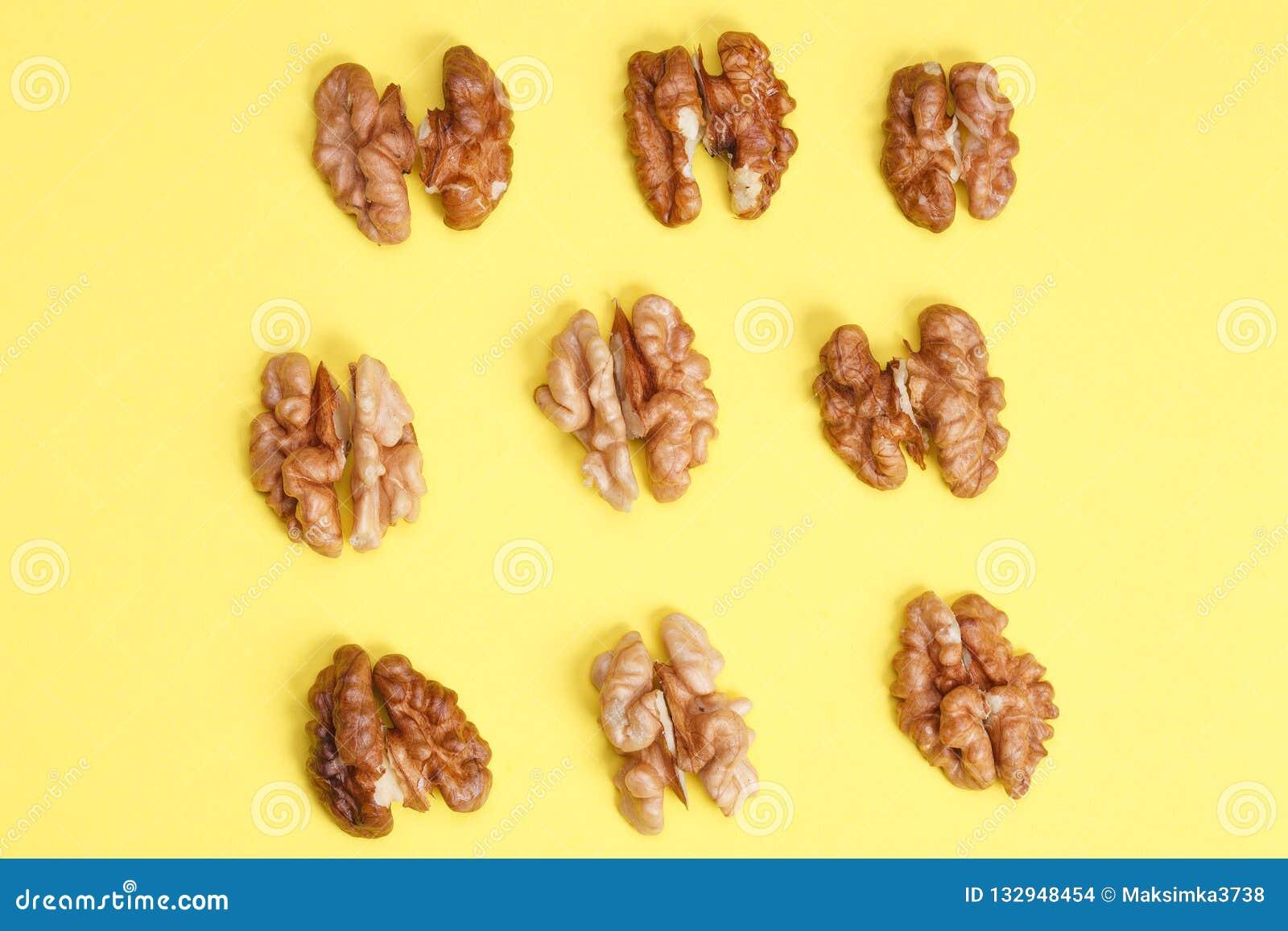 group of halves of walnut.