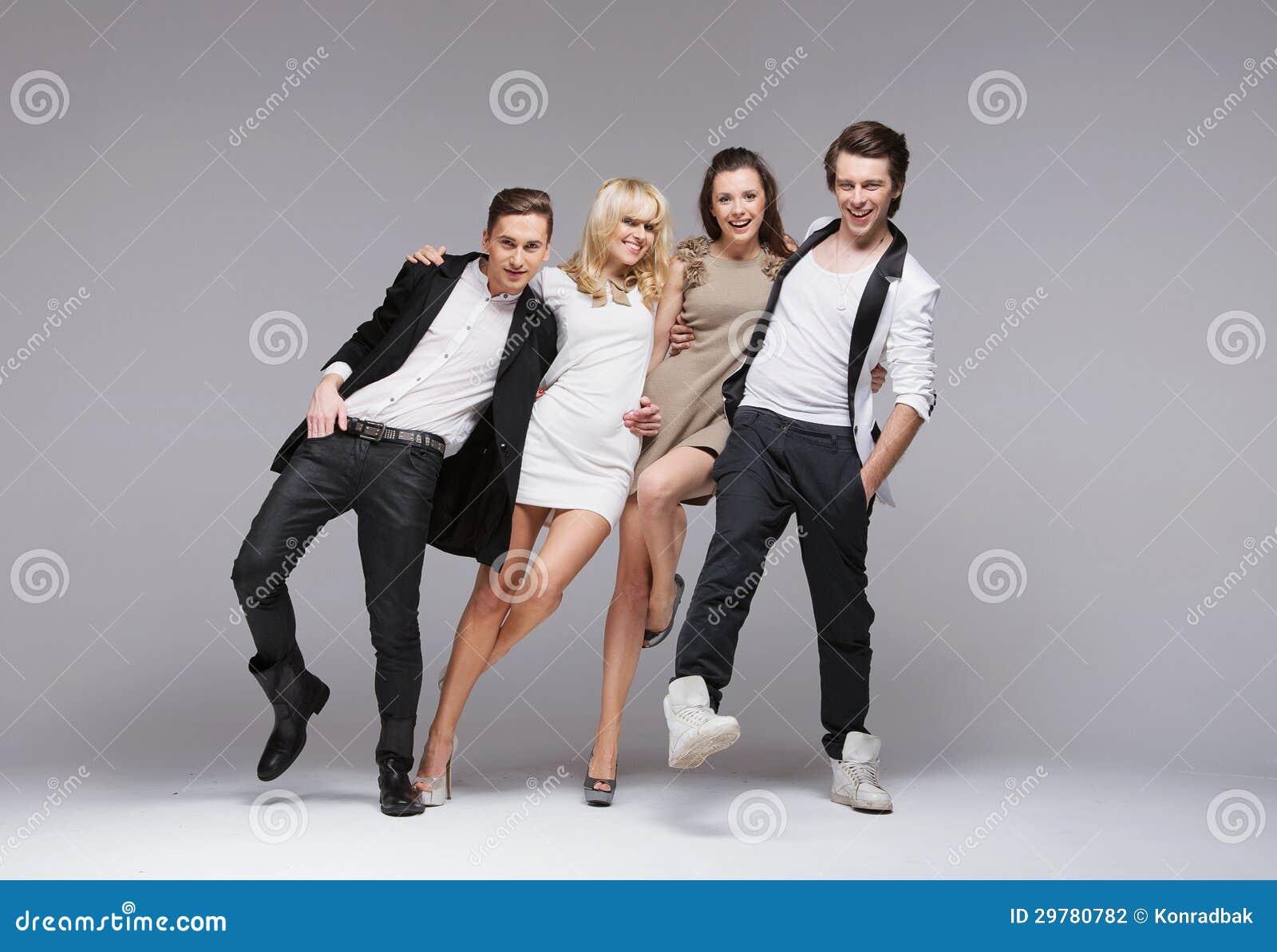 Photo de groupe drôle