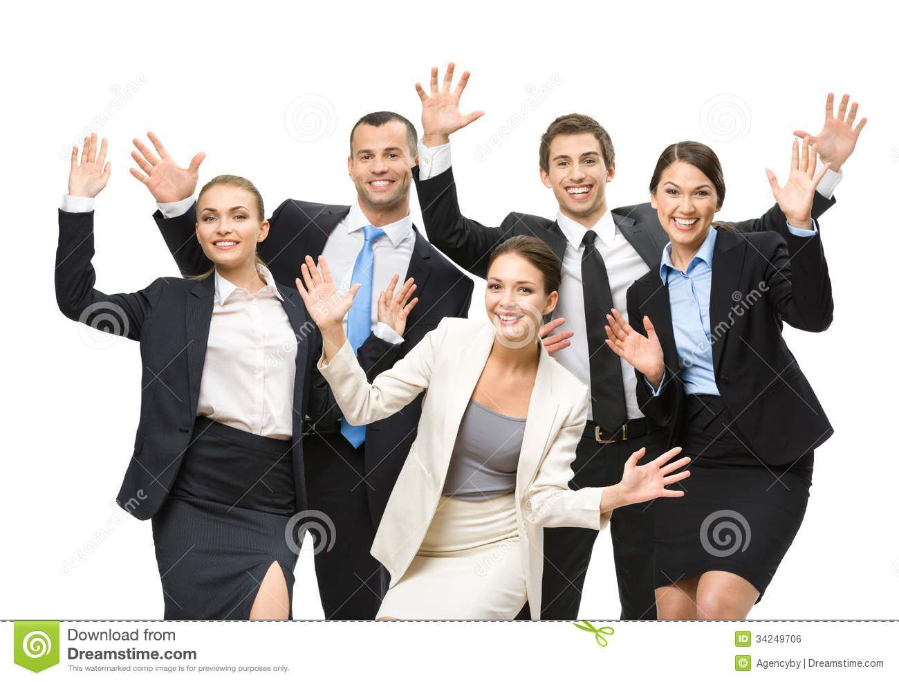 Group Of Happy Executives Royalty Free Stock Image Image