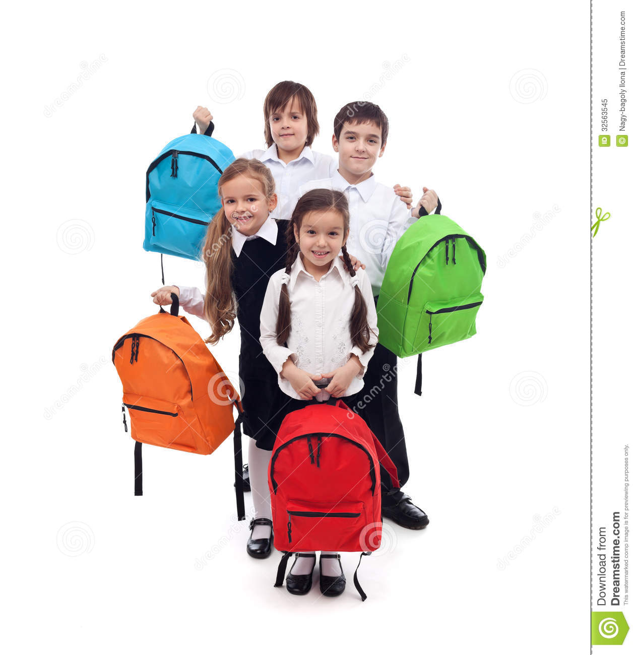 group of happy kids with colorful school bags royalty free stock photo - School Pictures For Kids